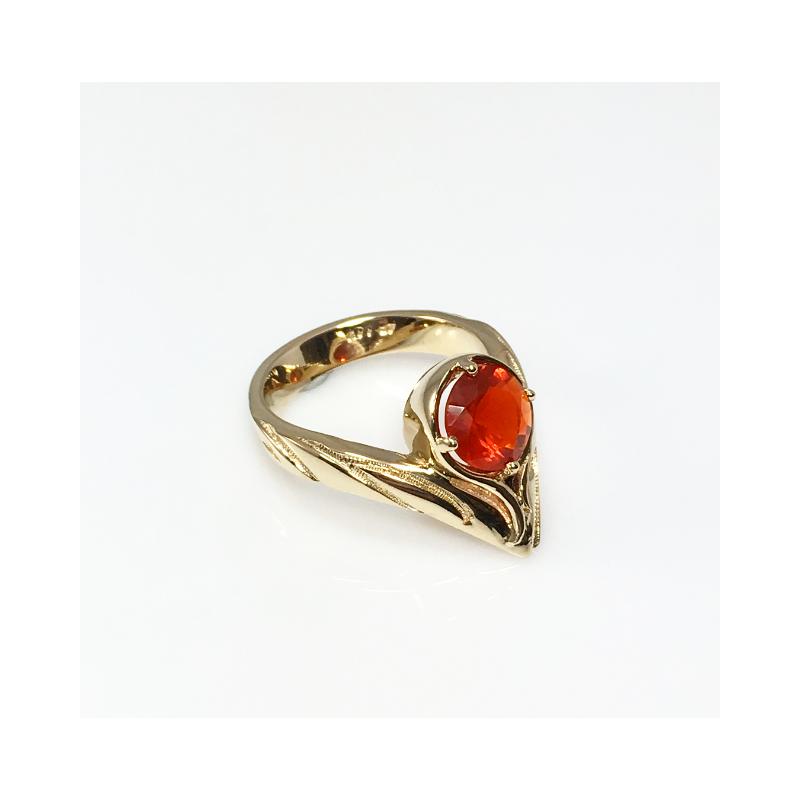 VandenDool Jewellers Custom Designs Fire Opal Ring