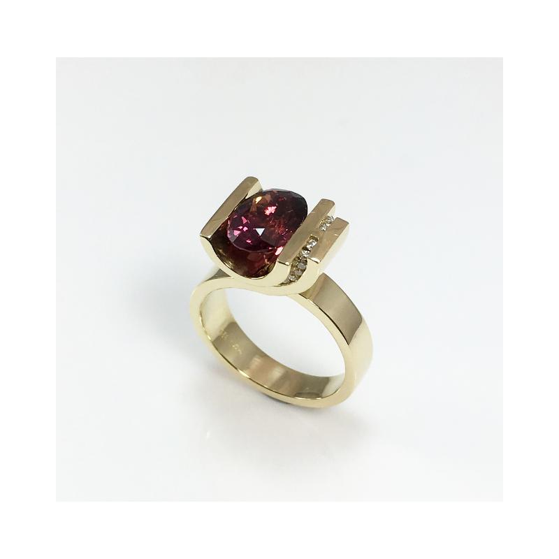 VandenDool Jewellers Custom Designs Purple Spinel and Diamond Ring