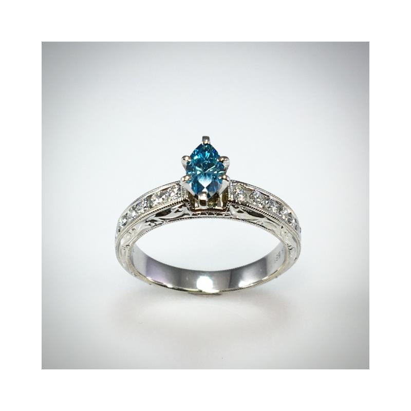 VandenDool Estate Jewellery Lady's Blue Diamond ring