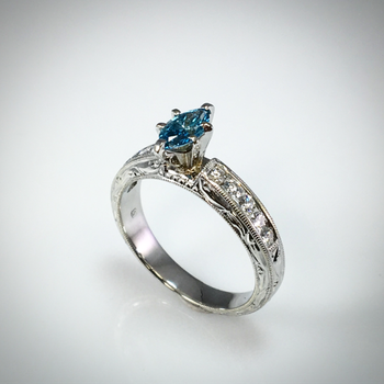 Lady's Blue Diamond ring