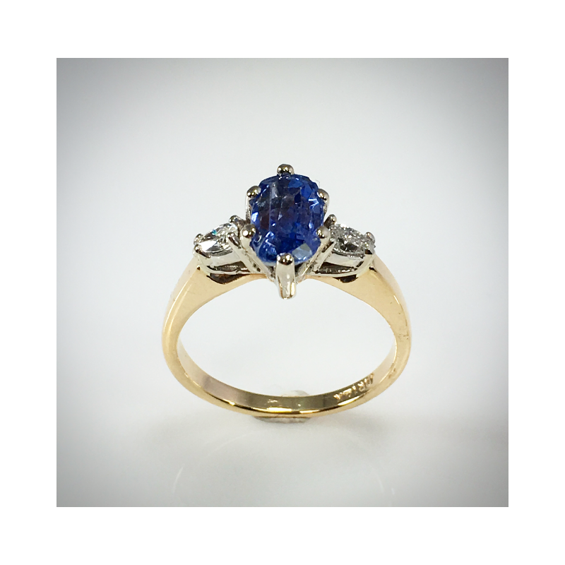 VandenDool Estate Jewellery Lady's Blue Sapphire and diamond ring