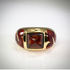 VandenDool Estate Jewellery Lady's Garnet and Glass Dress Ring