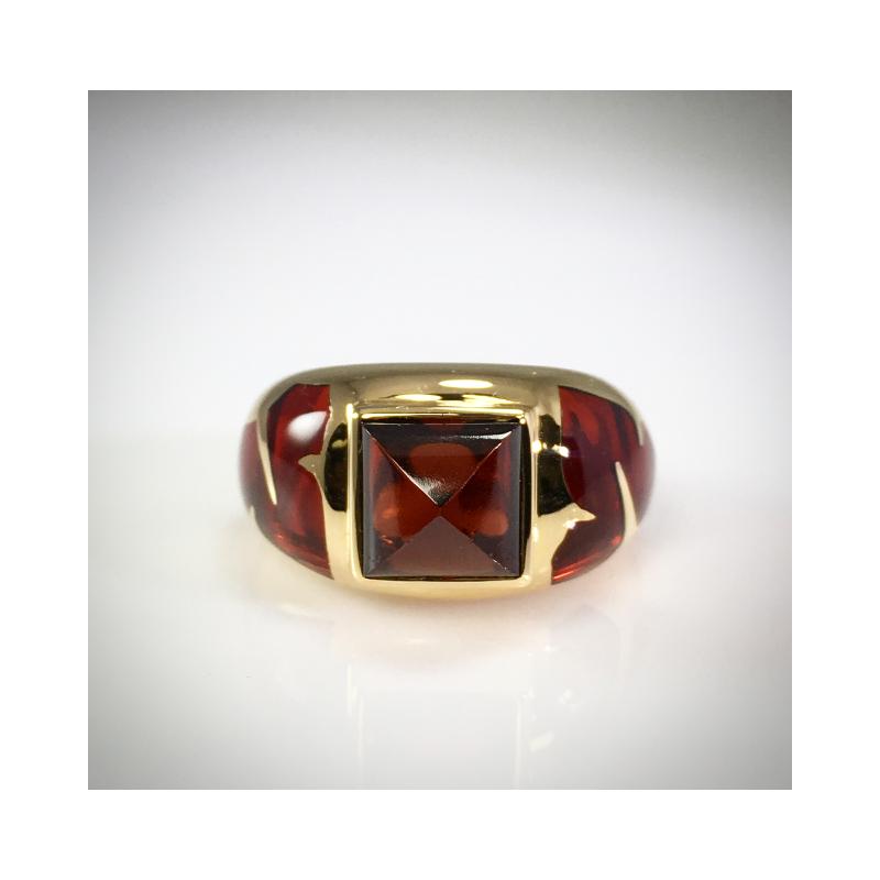 VandenDool Estate Jewellery Lady's Garnet and Glass Dress Ring