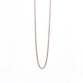 """Rose Gold Open Cable Chain (20"""")"""