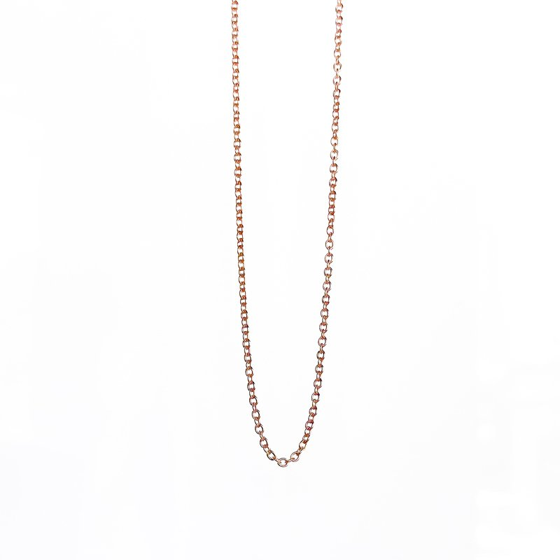 """Tecimer & Johns Rose Gold Open Cable Chain (20"""")"""