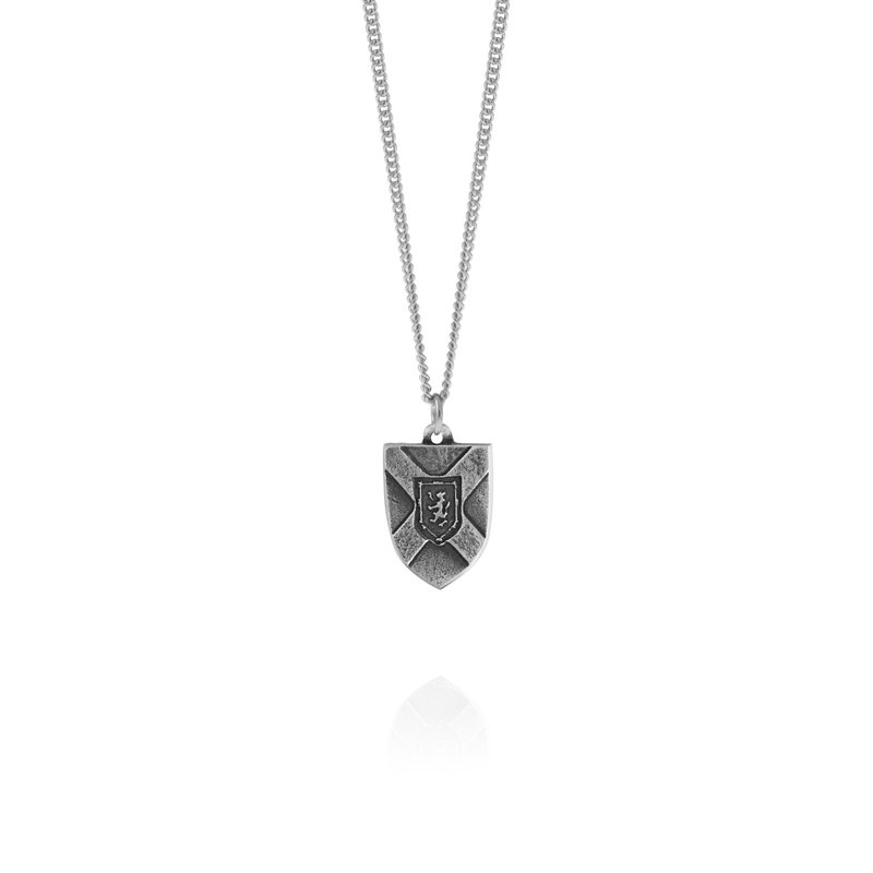 Amos Pewter Nova Scotia Crest Necklace