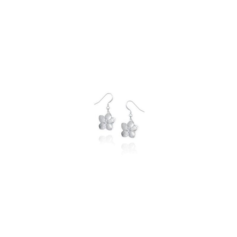Amos Pewter Apple Blossom Drop Earrings