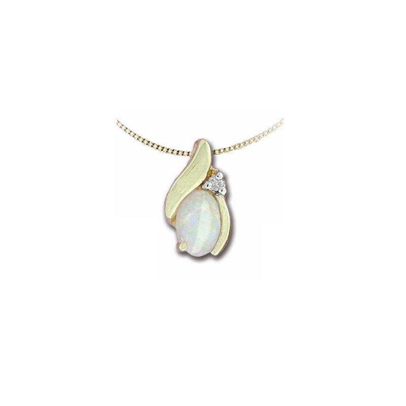 Karat Imports Opal & Diamond Necklace