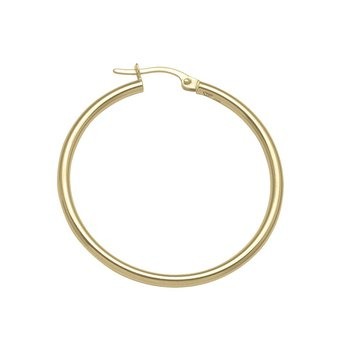 Plain Round Hoop Earrings (35mm)