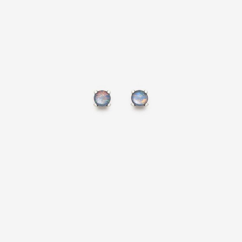 "Pilar Agueci ""Entire World"" Opal Stud Earrings"