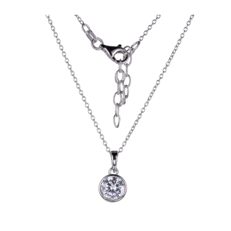 Reign Sterling Silver Cubic Zirconia Necklace
