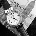 Caravelle Reversible Leather Strap Watch