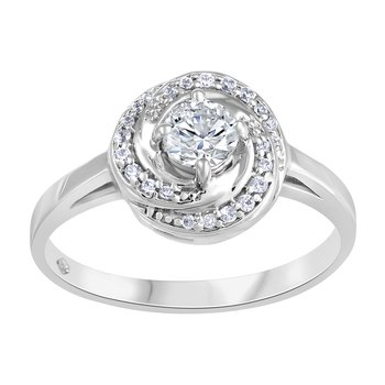 Forever Ice™ Canadian Diamond Halo Engagement Ring