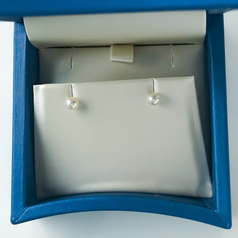 """HJ Pearl Collection 14KW Akoya """"A"""" Pearl Studs (4-4.5mm)"""
