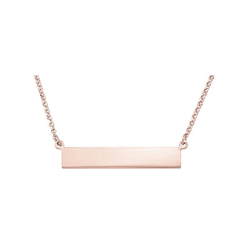 Tecimer & Johns Rose Gold Plated Bar Necklace