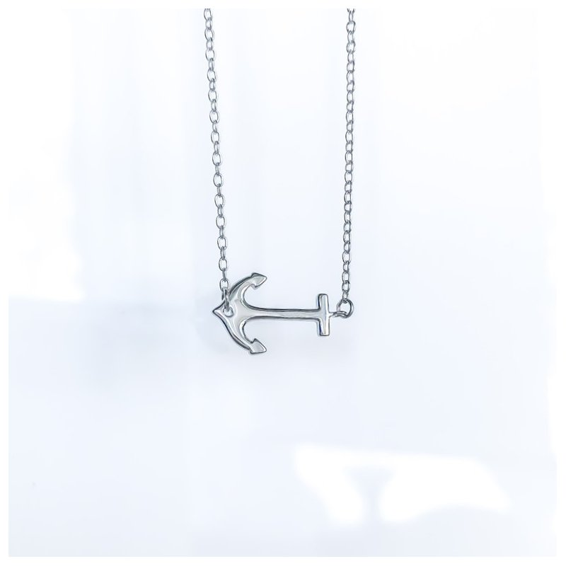 925 Solutions Sterling Silver Anchor Necklace