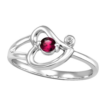Forever Ice™ Garnet Heart Ring