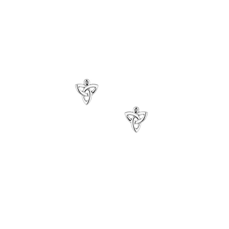 Keith Jack Diamond Trinity Knot Earrings