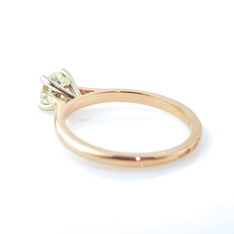 T & T Jewellers 0.50CT Rose Gold Solitaire Engagement Ring