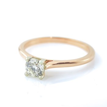 0.50CT Rose Gold Solitaire Engagement Ring