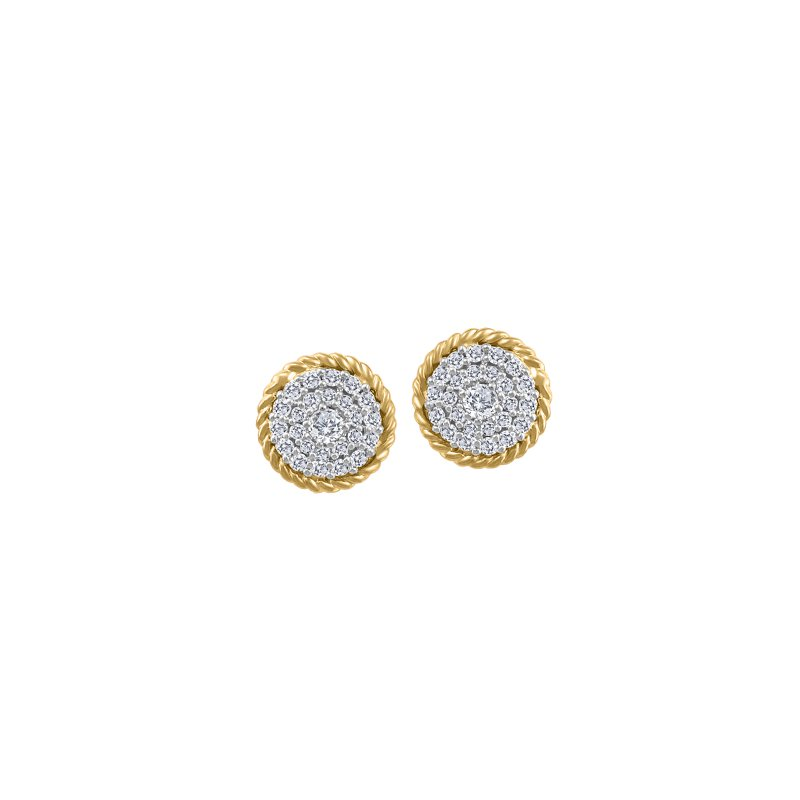 Fire and Ice Canadian Diamond Stud Earrings