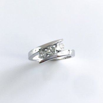 Princess Cut Three-Stone Diamond Ring