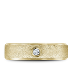 Bleu Royale Textured Diamond Wedding Band