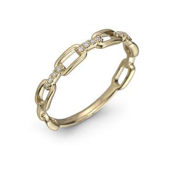 Chain Link Diamond Ring