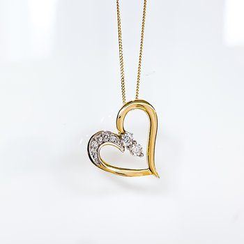 """""""Together Forever"""" Diamond Heart Necklace"""
