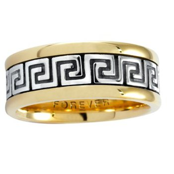 Celtic 'Roman Key' Wedding Band
