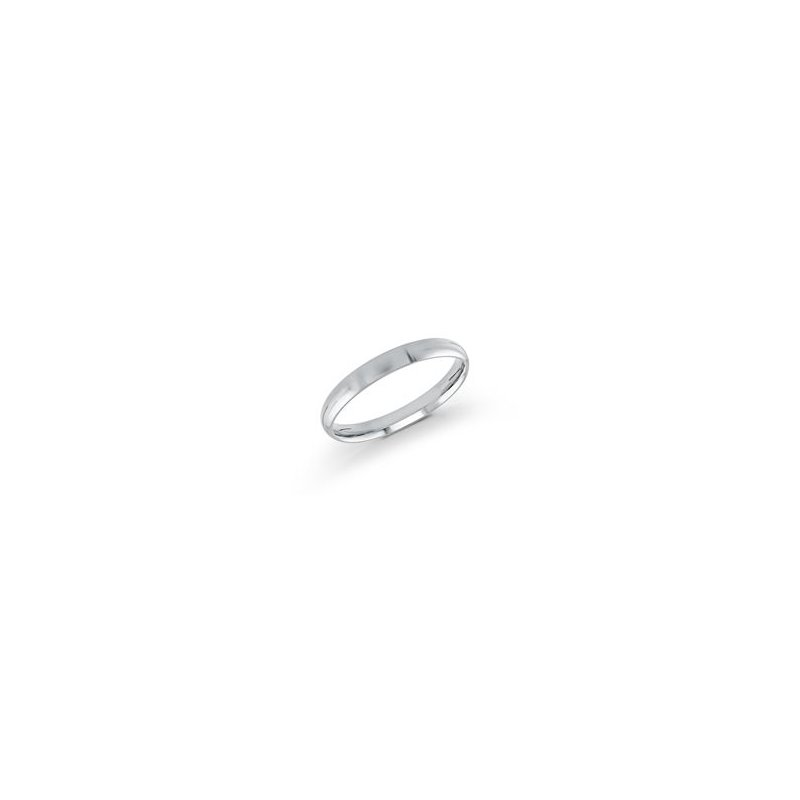 Malo Bands Classic White Gold Wedding Band (3mm)