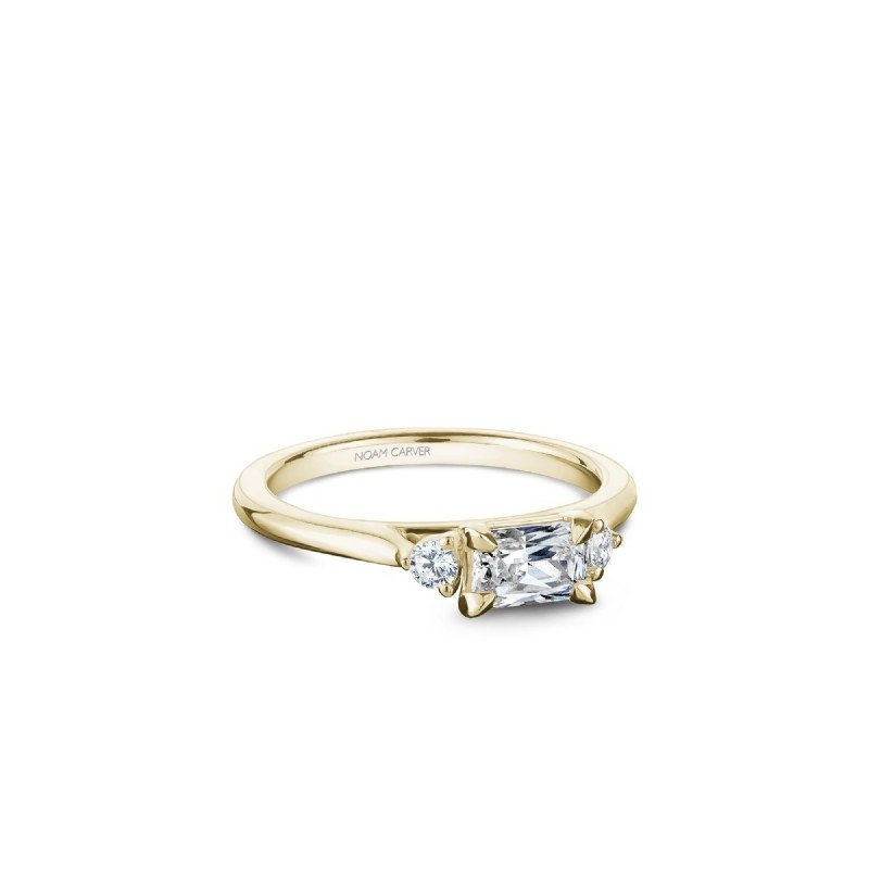 Noam Carver 0.50CT Three-Stone Emerald Cut Engagement Ring