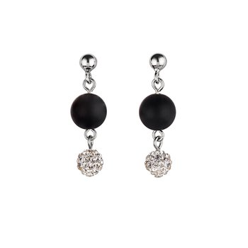 Onyx & Crystal Earrings
