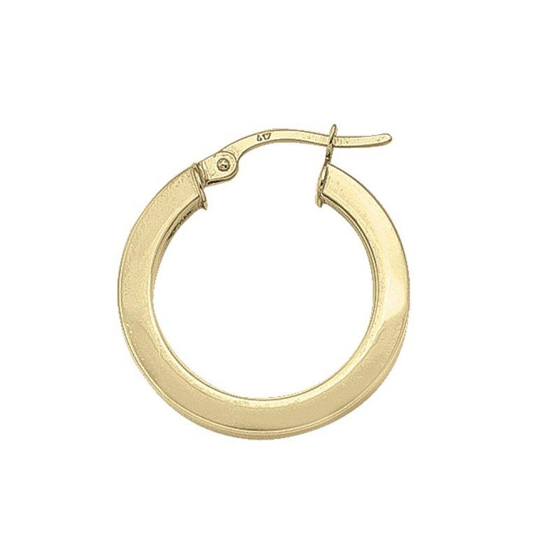 Tecimer & Johns Plain Square Hoop Earrings (20mm)