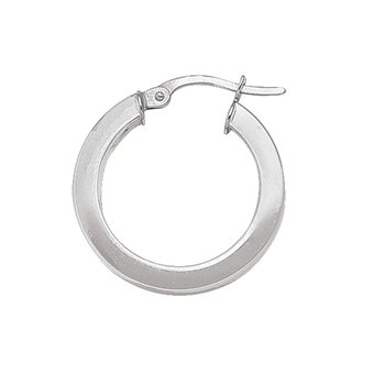 Plain Square Hoop Earrings (20mm)