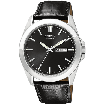 Men's Watch Black Leather