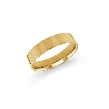 Pipe Cut Gold Band (5mm)