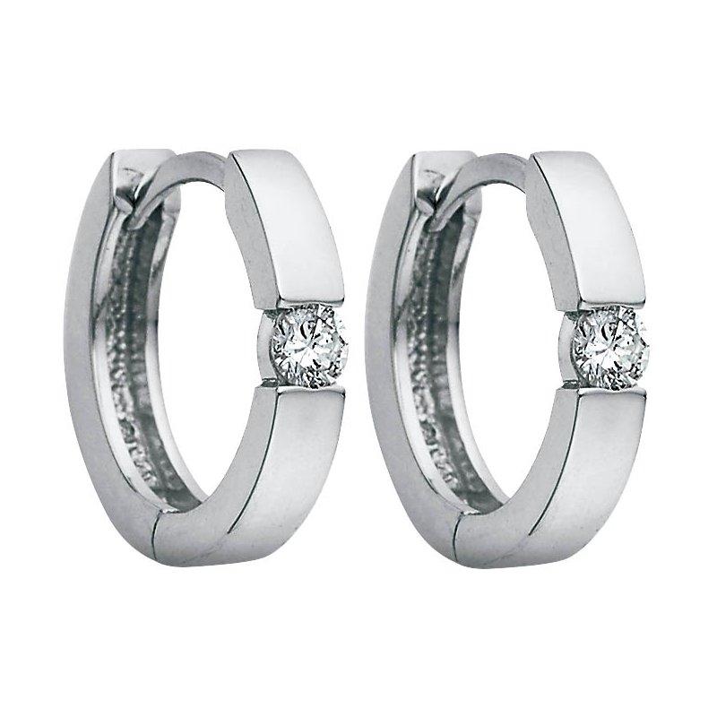Corona Diamond Hoop Earrings