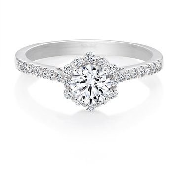 0.51CT Canadian Diamond Halo Engagement Ring