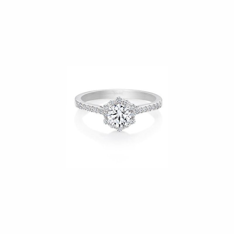HJ Collection 0.51CT Canadian Diamond Halo Engagement Ring