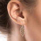 Tecimer & Johns Gold Leaf Drop Earrings