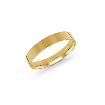 Pipe Cut Gold Band (4mm)