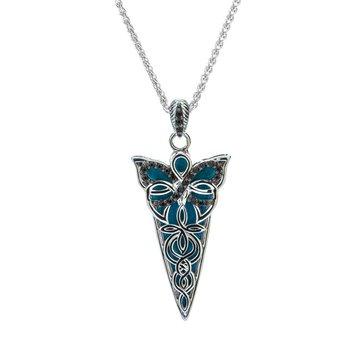 Blue Enamel Butterfly Necklace (Small)