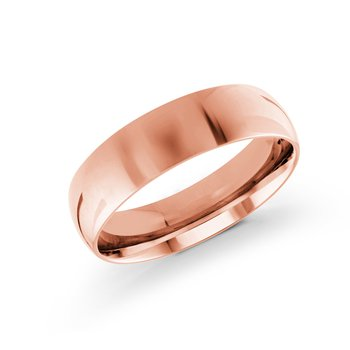 Classic Rose Gold Wedding Band (6mm)