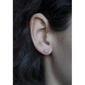 Gold Chip Stud Earrings