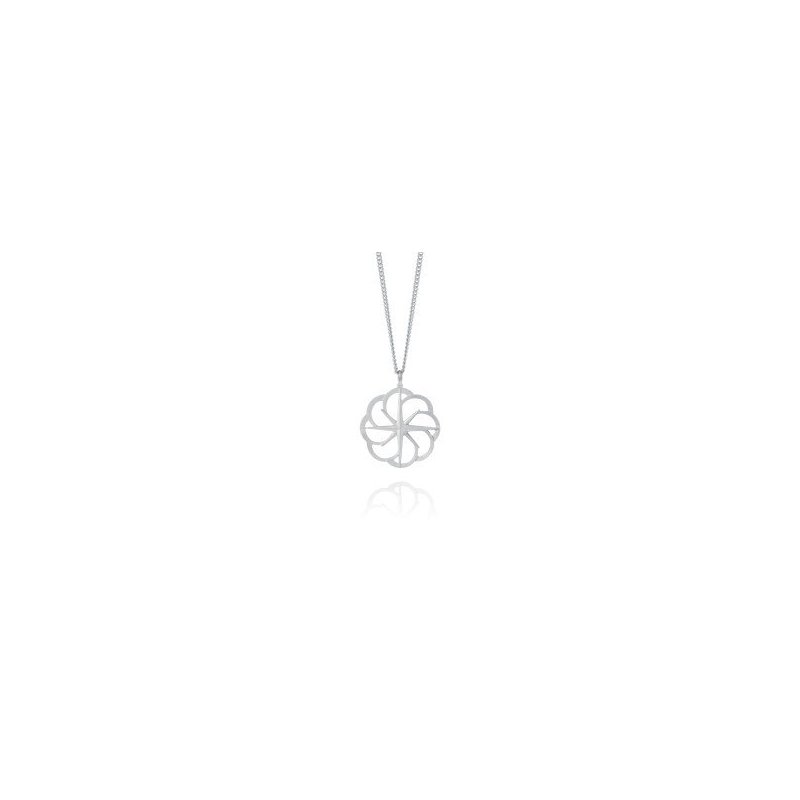 Amos Pewter Compass Rose Necklace