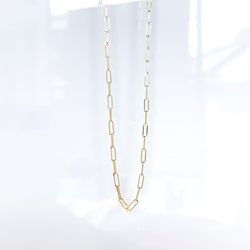 """14K Yellow Gold Paperclip Chain (18"""")"""