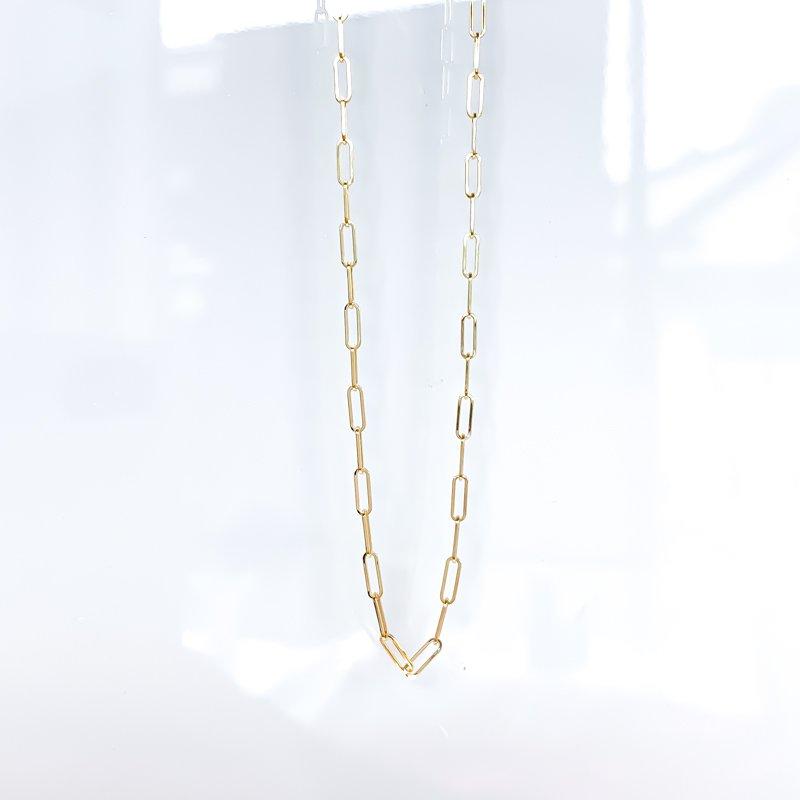 "Tecimer & Johns 14K Yellow Gold Paperclip Chain (18"")"