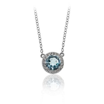 Classic Blue Topaz Necklace