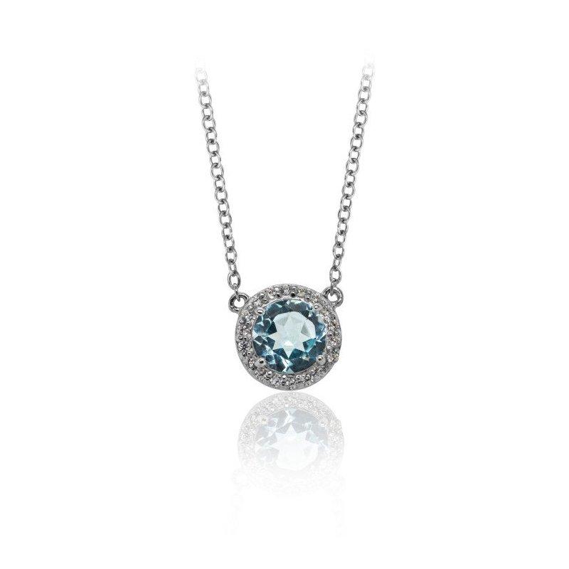Larus Classic Blue Topaz Necklace